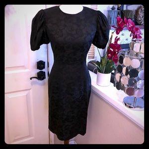 Vintage Spenser Jeremy Black Silk Rose Dress
